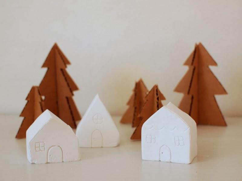 Plaster Christmas Village