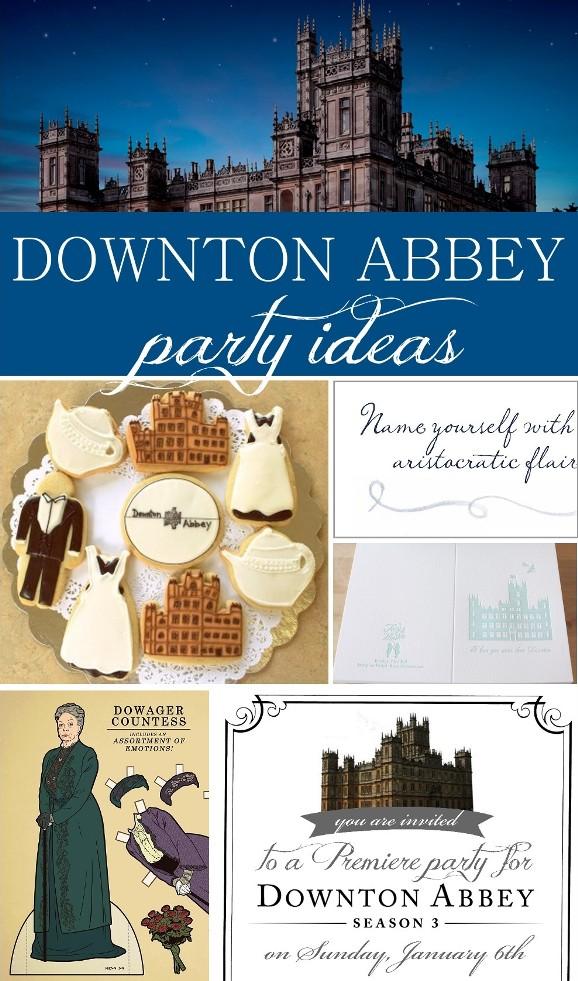 downton abbey  party invitation printable