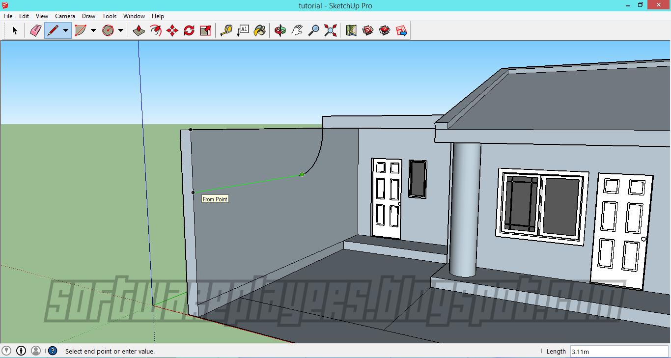 Desain Rumah Minimalis Menggunakan Google SketchUp (Full