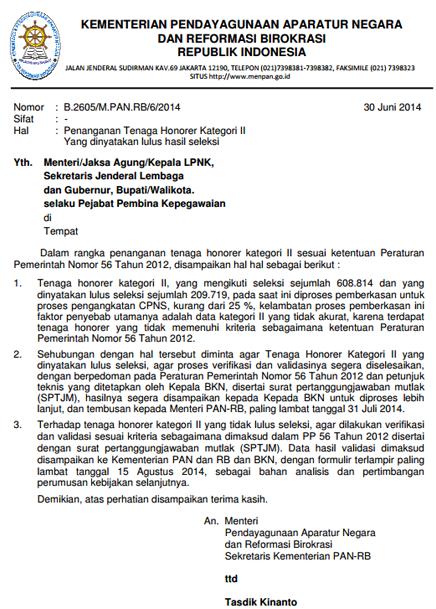 Verifikasi Honorer K2 Gagal Tes Untuk Proses Pengangkatan CPNS
