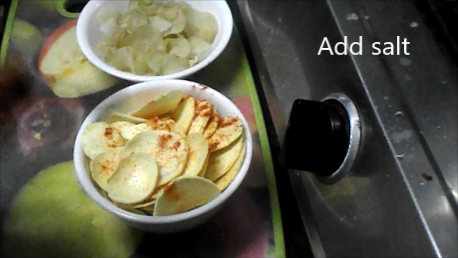 Different type of potato chips ( vadam )