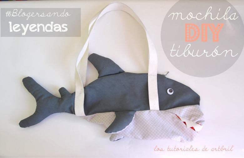 diy tutorial como hacer una mochila tiburon