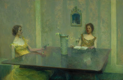 thomas dewing a reading one objectivist's art object of the day