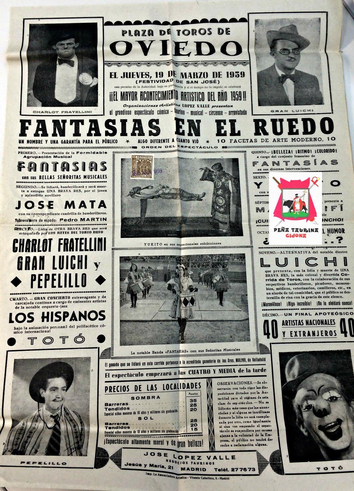 OVIEDO CARTEL DE TOROS
