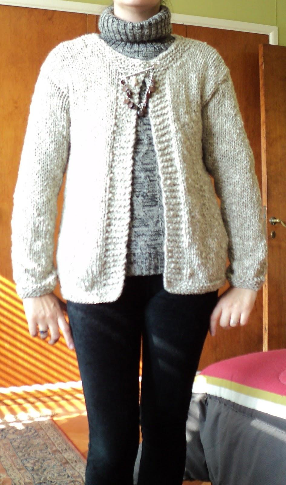 Tejer el arte de crear con tus manos chaleco de mujer - Lana gruesa para tejer ...