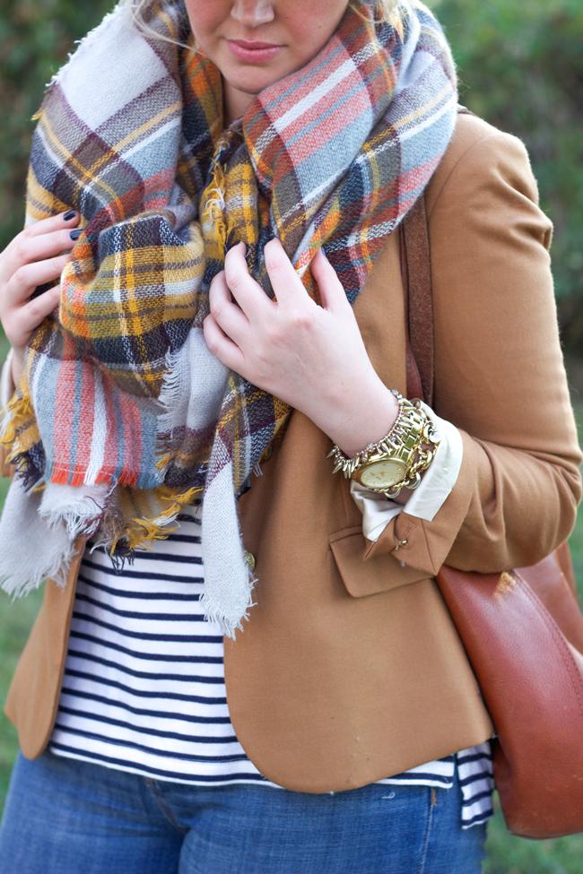 zara blanket scarf dupe