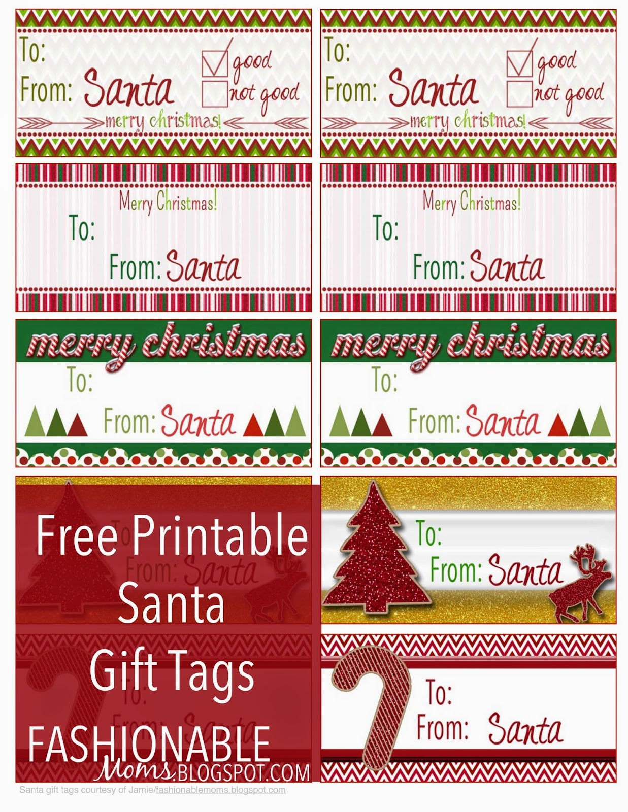 My fashionable designs december 2014 free printable santa gift tags negle Choice Image