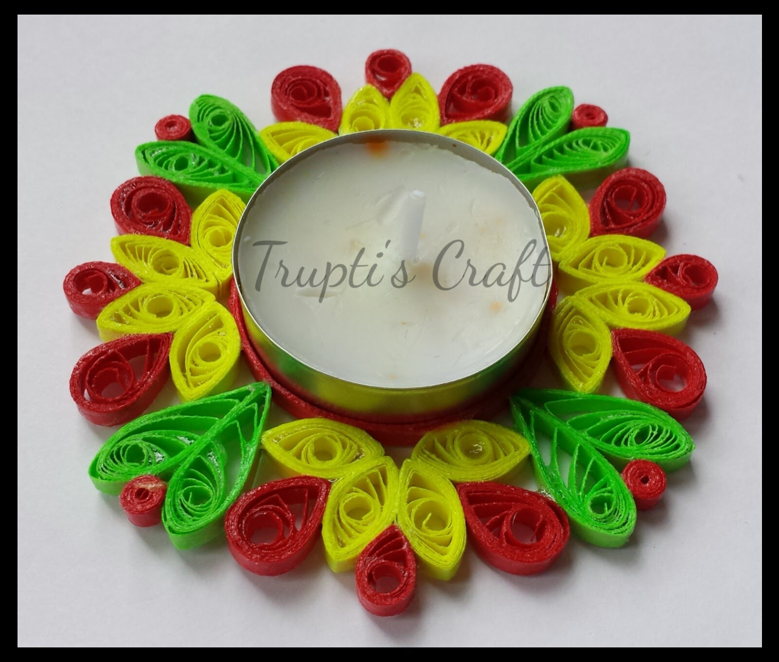 Trupti 39 s craft paper quilling candle holders for Quilling paper craft