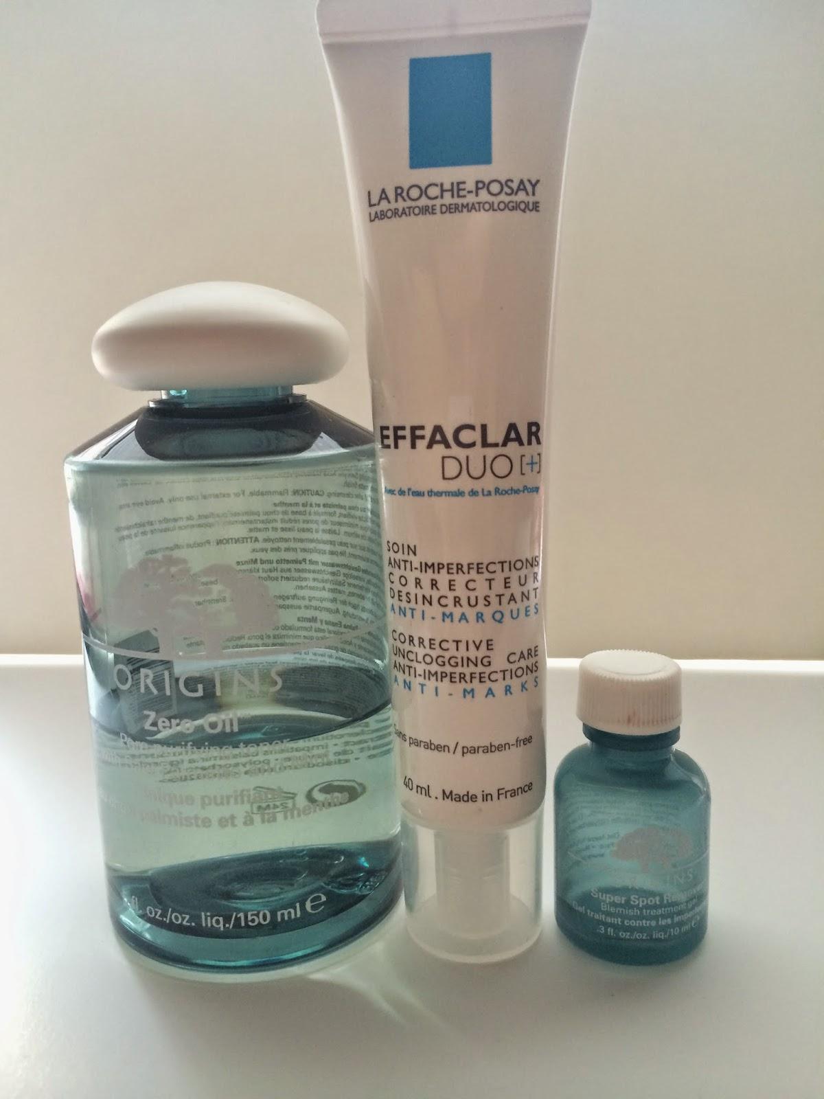 skin care routine, origins, origins zero oil, origins spot remover,