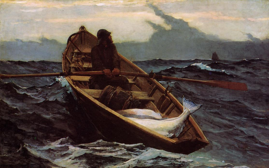19th century american paintings winslow homer ctd for Fishing row boats