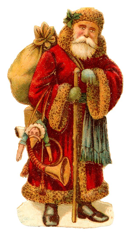 Free Vintage Clip Art Images Vintage Santa Claus Clipart