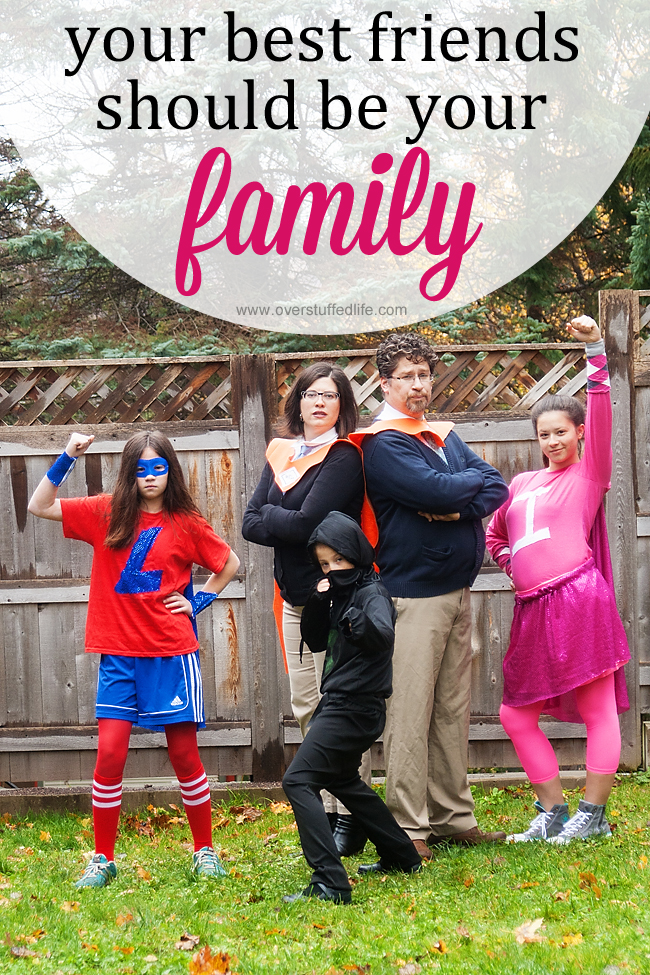 Making time to do fun things as a family can help your kids be best friends for their whole lives. #overstuffedlife