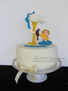 bolo Batizado do Thomas