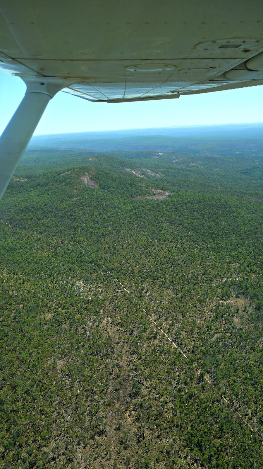 Birdseye view of the Darling Ranges Australia