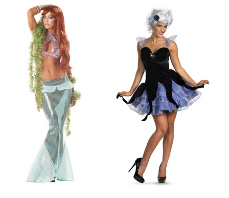 Sexy Disney Halloween costumes to roll your eyes at - Ariel and Ursula