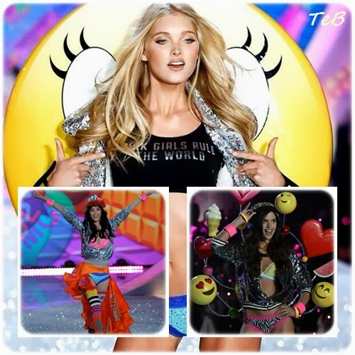 "smile, palloncini, glitter e pon pon per un'overdose di colori e fantasie: Elsa Hosk indossa un top  con la scritta ""Pink Girls Rule The World"" ..speriamo non in queste vesti.."