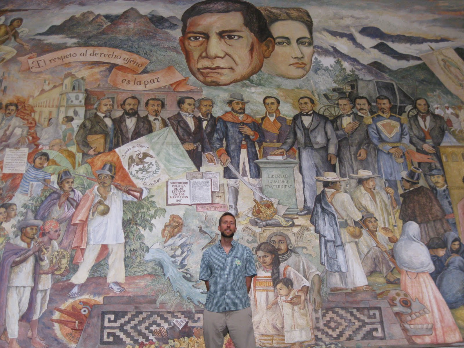 Benito juarez and the zapotecs september 2011 for Benito juarez mural