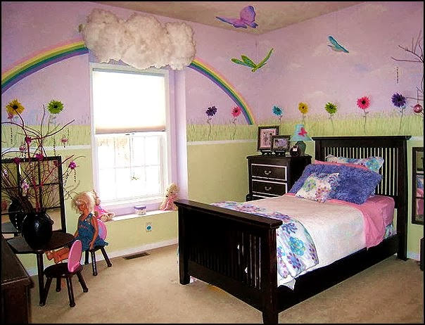 Rainbow girl bedrooms ideas home decorators living room for 1 bedroom living room ideas