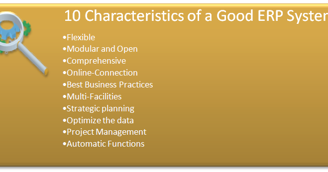 10 Characteristics of a Good ERP System | Accounting Education