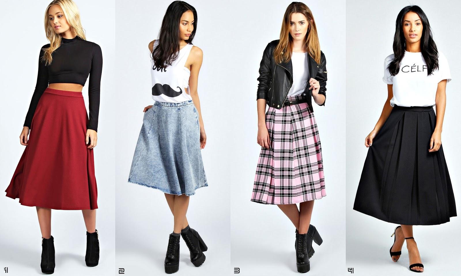 Frills and Thrills: The Midi Skirt Trend