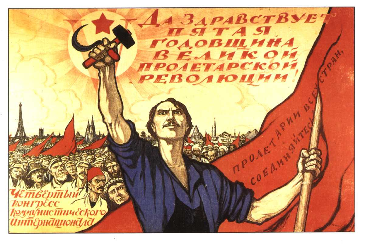 Soviet propaganda poster as a means of propaganda in different epochs