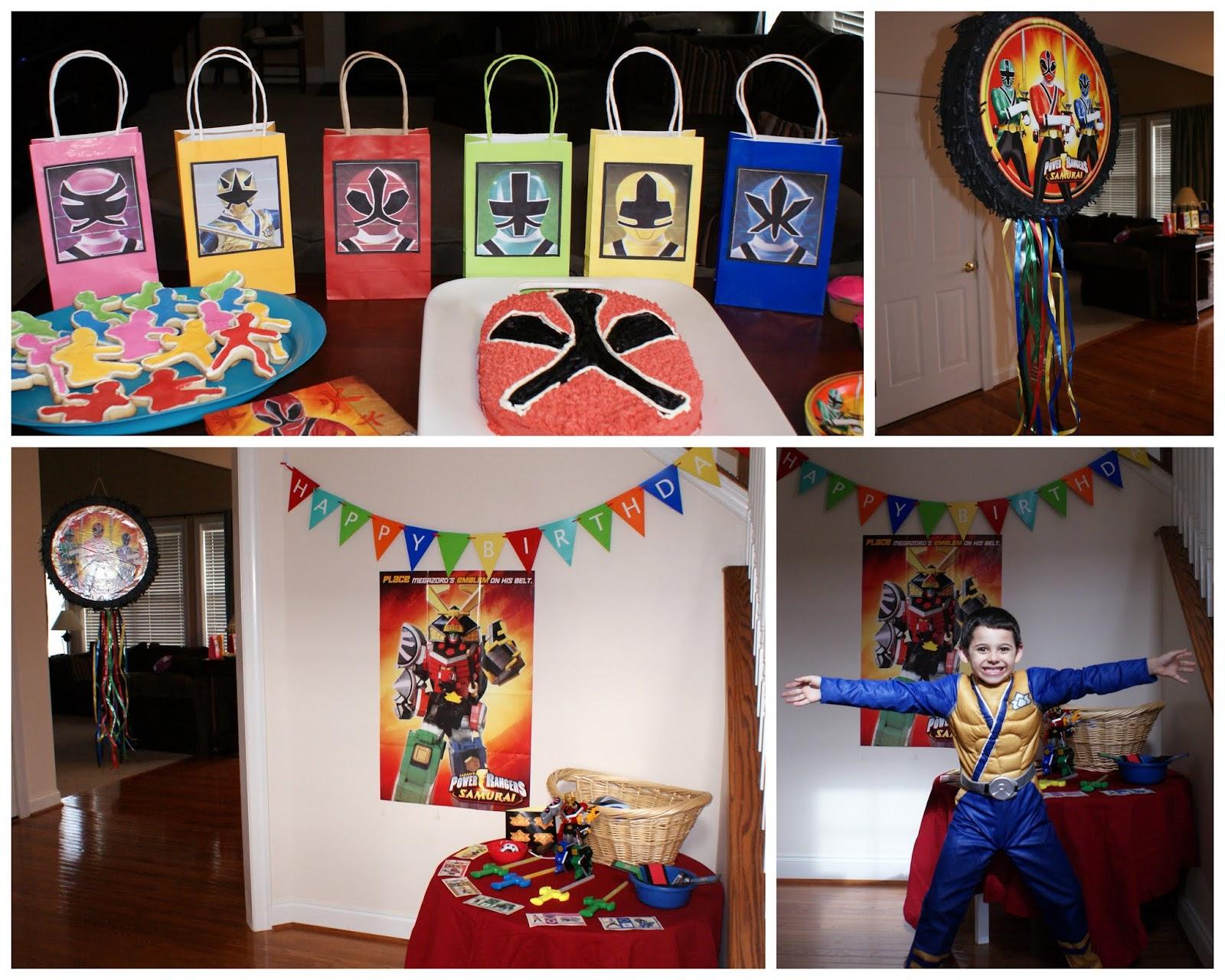 Crafty celebrations power ranger birthday party