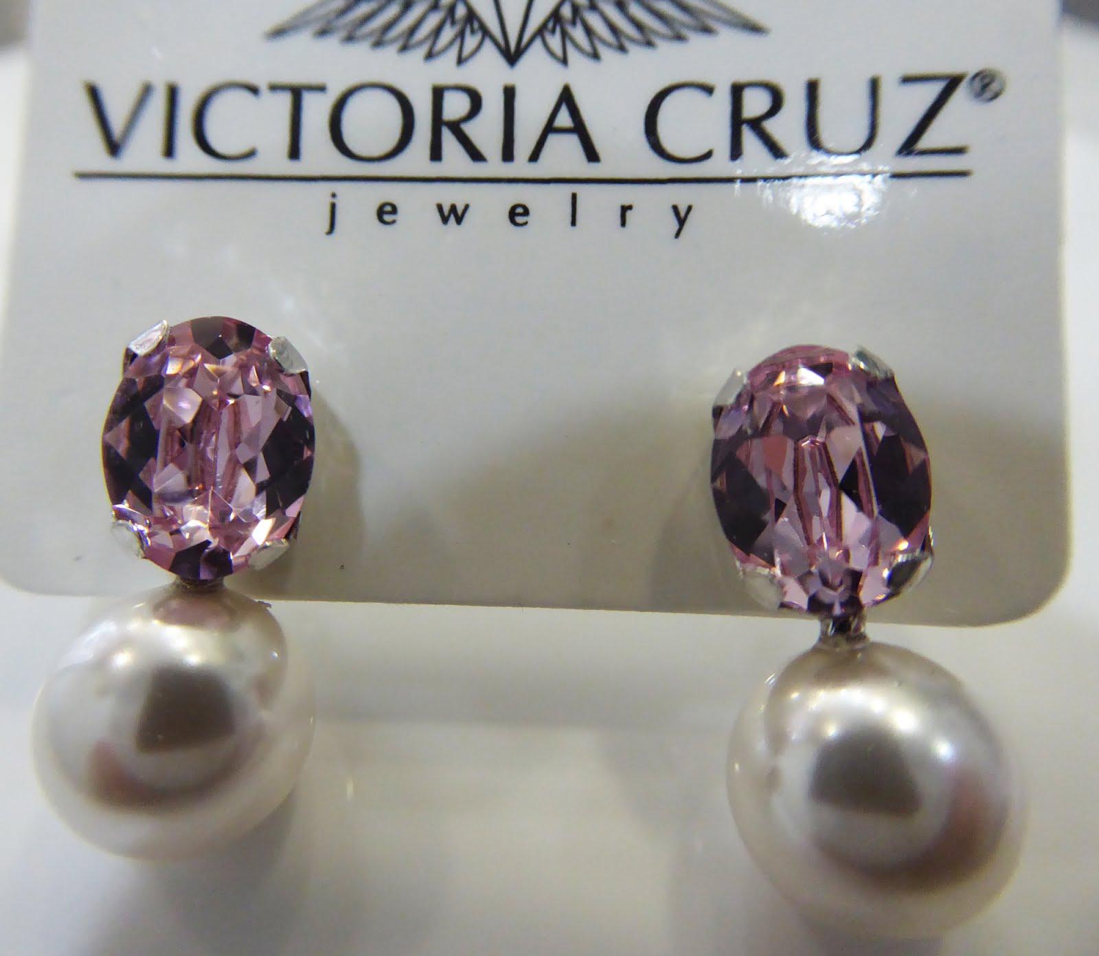 Pendientes perla y cristal