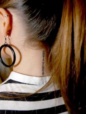Imagens de Tatuagens Delicadas na Nuca
