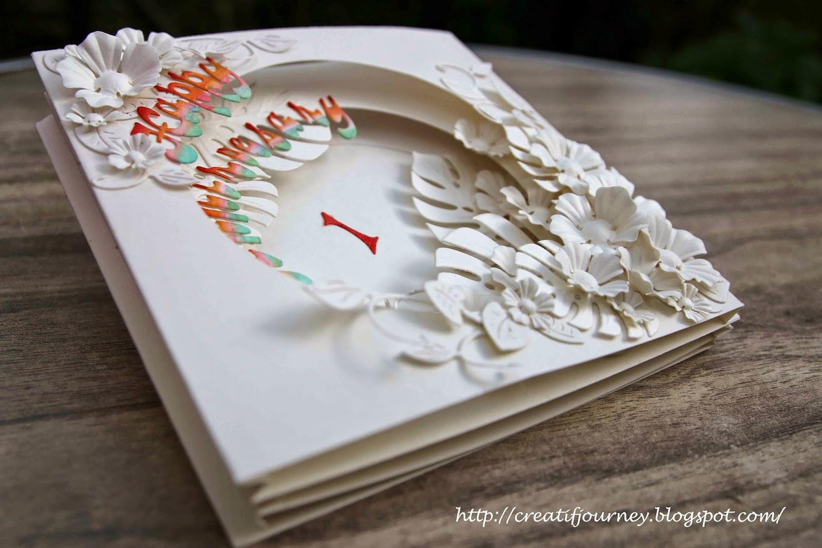 Creatif journey wedding anniversary card