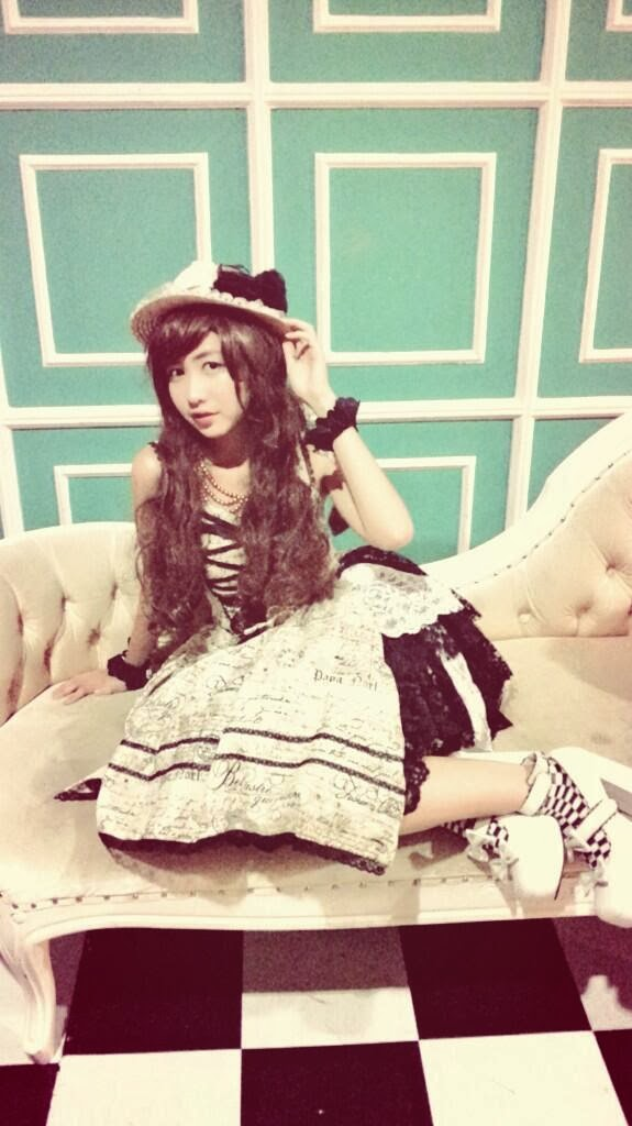 GhaidaJKT48 wearing Lolita Dress