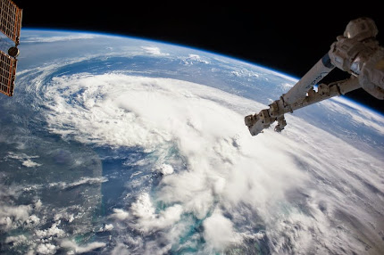TROPICAL STORM ARTHUR AS SEEN FROM SPACE BY ISS