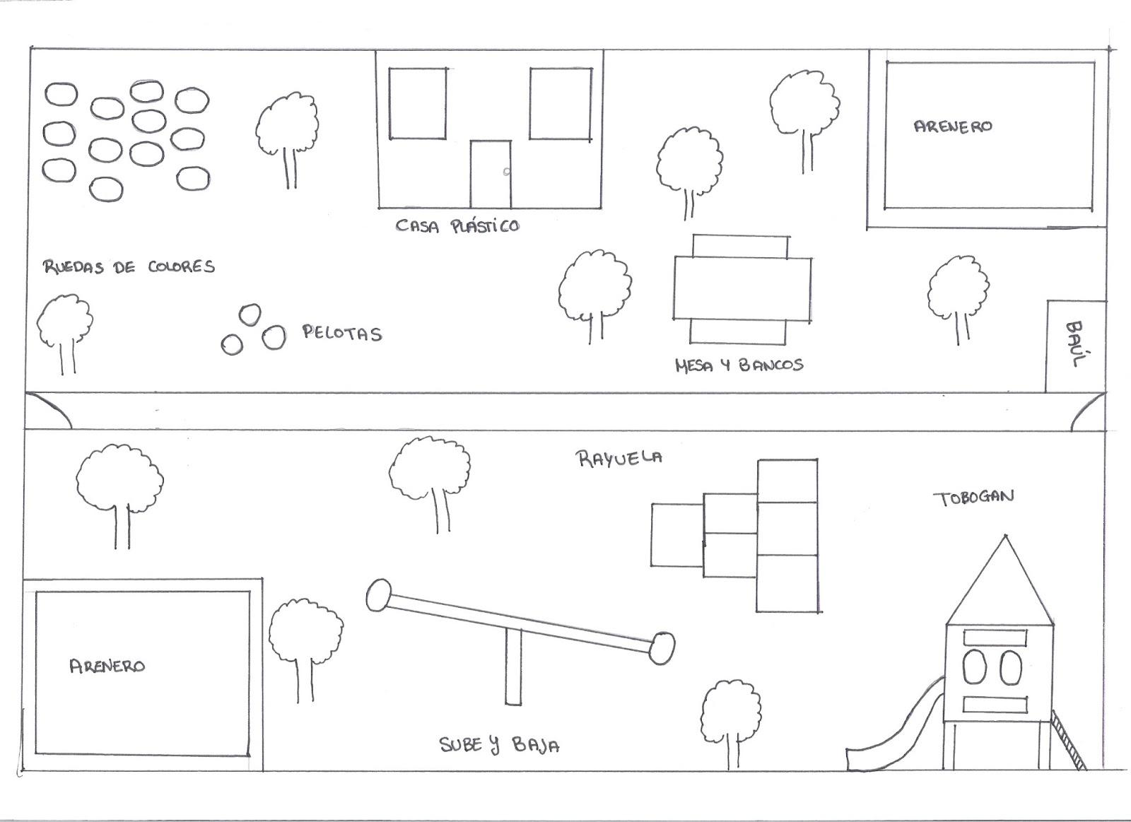 Nuestro patio escuela infantil los picolinos for Plano escuela infantil