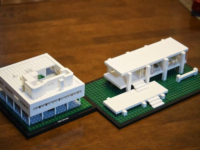 ファンズワース邸とサヴォア邸 Farnsworth House Villa Savoye Lego Architecture