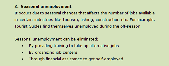 unemployment causes and remedies
