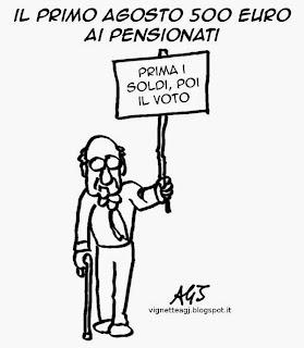 renzi, pensioni, rimborso pensioni, satira, vignetta