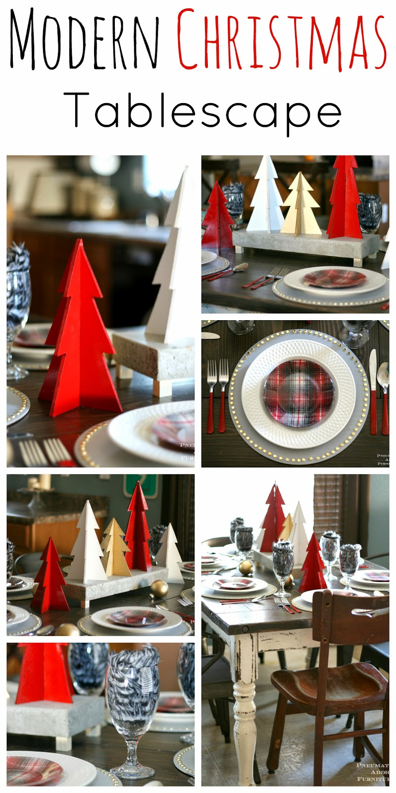 Pneumatic Addict 4th Day Of Christmas Modern Tablescape
