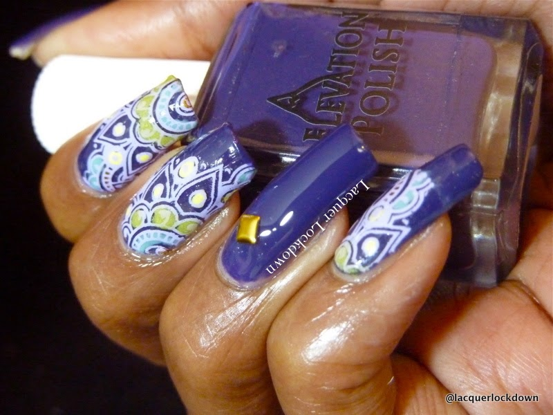 Lacquer Lockdown - Elevation Polish, Elevation Polish Italian Collection, Elevation Polish Antelao,, Mundo de Unas stampng polish, dashica infinity 08, nail art stamping blog, nail art stamping, cute nail art ideas, diy nail art