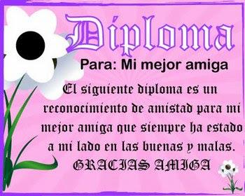 Diploma+a+la+mejor+amiga Imagenes de Cumpleaños para Amigas..