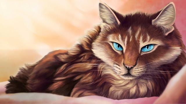 Fondo de pantalla Pintura de un Hermoso Gato