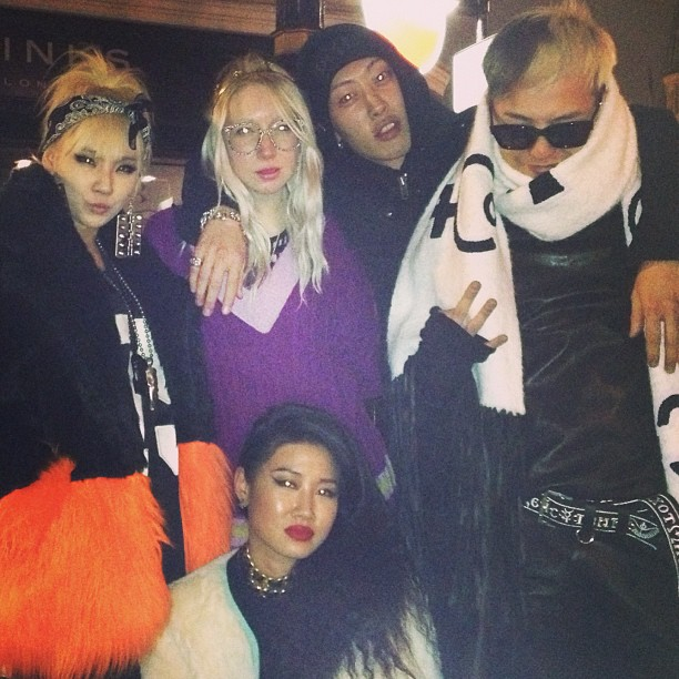 G-Dragon in London with Yoon, Yanggaeng & CL 130120