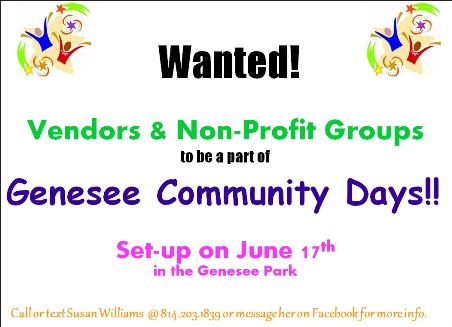 6-17 Vendors Wanted!