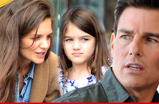 Katie Holmes, Suri and Tom Cruise