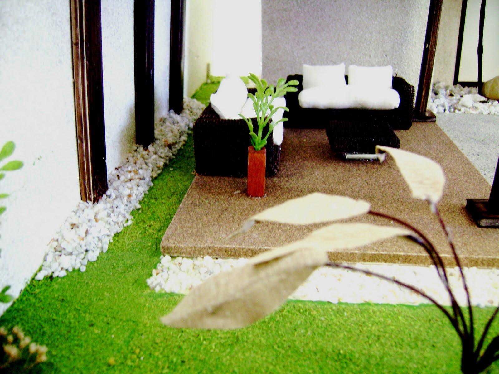Dise adoras de interiores de la univa primeras maquetas for Maquetas de jardines