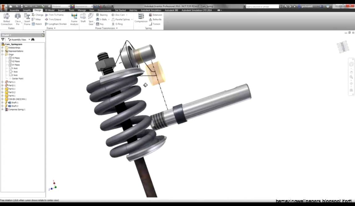 Autodesk Inventor   Compression Springs   YouTube