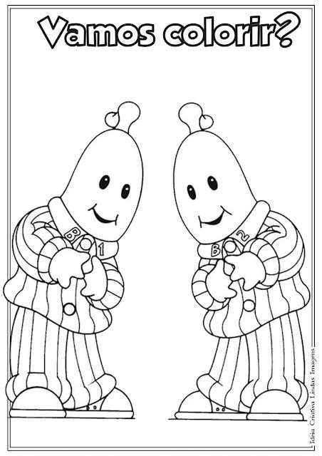 Desenho Bananas de Pijama para colorir