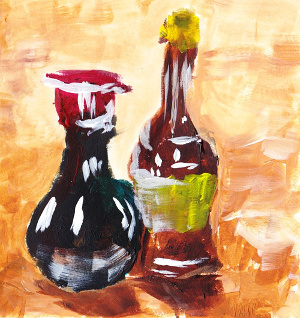 Quick bottles painting