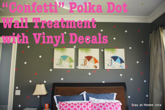 polka dot vinyl decals on a bedroom wall