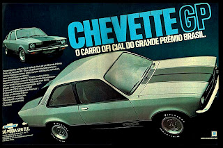 propaganda Chevette GP - 1976.   reclame de carros anos 70. brazilian advertising cars in the 70. os anos 70. história da década de 70; Brazil in the 70s; propaganda carros anos 70; Oswaldo Hernandez;