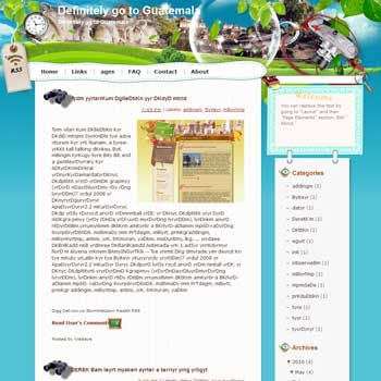 Definitely go to Guatemala Blogger Template. beautiful background template blogger