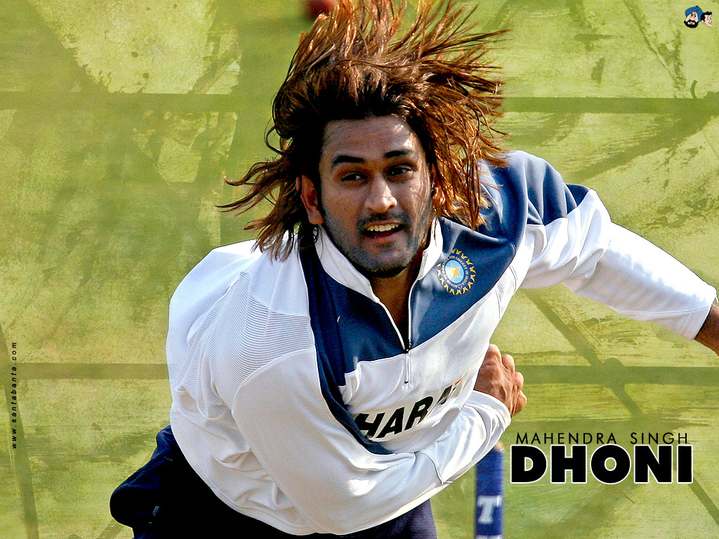 Mahendra Singh Dhoni With Long Hairstyle Best Hairstyles